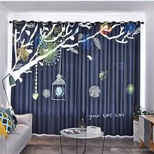2020 Childrens Room Curtain Boy Girl Bedroom Kid Room Cute Cartoon Hand Drawn Windshield Blackout Curtain Soundproof Windproof Curtains From Dhzhang20188 65 78 Dhgate Com