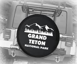 Spare Tire Cover Grand Teton National Park Wyoming Auto Accessories Ebay