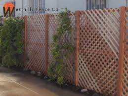 Redwood Diamond Lattice Fence Lattice Fence Backyard Fences Fence Design