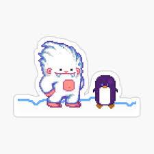Yeti Penguin Stickers Redbubble