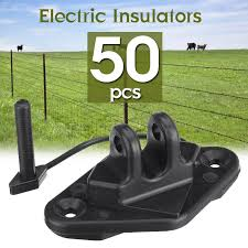 50pcs Screw In Electric Fence Wood Timber Post Insulators Tape Cord Wire Fencing Trellis Gates Aliexpress