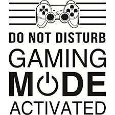 Amazon Com Cool Video Game Style Vinyl Wall Sticker Quote Do Not Disturb Gaming Activated Wall Decal Gaming Room Boy Bedroom Decor Home Kitchen