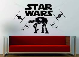 Amazon Com Wall Vinyl Decals Star Wars Tie Fighter Imperial At At Decorative Art Vinyl Wall Sticker Decal Made In Usa Home Kitchen