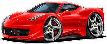 Amazon Com Ferrari 458 Italia Wall Decal 2ft Long Sport Luxury Vehicle Classic Sticker Man Cave Garage Boys Room Decor Baby
