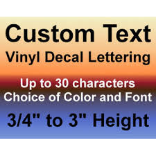 Oracal Custom Vinyl Decals Text Letters Numbers Personalized Stickers Car Window Home
