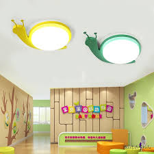 Green Yellow Snail Ceiling Lamp With Acrylic Shade Led Flush Mount For Baby Kids Room Takeluckhome Com