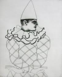 Lot-Art   Adrian George, Study of a Clown, limited edition etching 88...