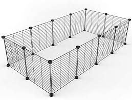 Amazon Com Tespo Pet Playpen Small Animal Cage Indoor Portable Metal Wire Yd Fence For Small Animals Guinea Pigs Rabbits Kennel Crate Fence Tent Black 12 Panels Pet Supplies