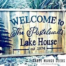 lake house wood sign primitive