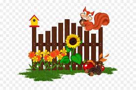 Garden Fence Cartoon Clipart 3420339 Pinclipart