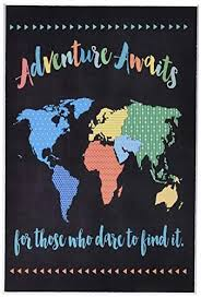 Buy The Kids Room By Stupell Adventure Awaits World Map Wall Plaque Art Features Price Reviews Online In India Justdial