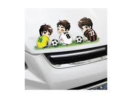 1pc Cartoon Style Kaka Ronaldo Rooney Messi Car Sticker Decal Styling Football Player Star Interesting Gift Newegg Com