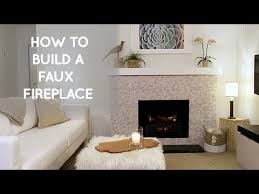 portable free standing faux fireplace