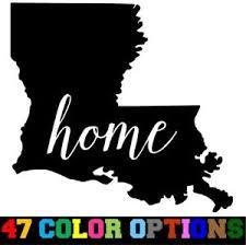 Vinyl Decal Truck Car Sticker Laptop Home State Outline Love Usa Louisiana Ebay