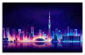 city ilration ultra hd desktop