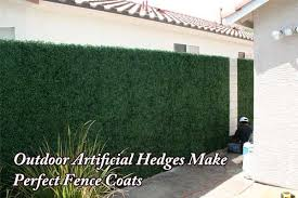 Outdoor Artificial Hedges Make Perfect Greenery Fence Coats Faux Greenery Outdoor Artificial Hedges Outdoor Privacy Panels