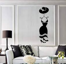 Wall Stickers Vinyl Decal Women S Wardrobe For Girls Fashion Dress Ig Wallstickers4you