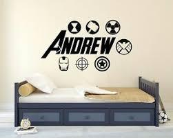Custom Avengers Name Wall Decal Cartoon Super Hero Kids Art Mural Sticker Ebay