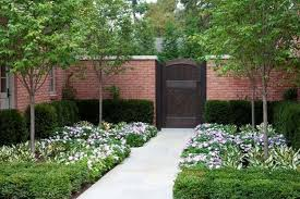 Outdoor Brick Fences Providing Privacy Fence Landscaping Brick Fence Traditional Landscape