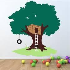 Tree House With Tire Swing Large Nursery Playroom Mural 22258 Cuttin Up Custom Die Cuts