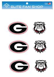 Georgia Bulldogs 3 Vinyl Decal 6 Pack