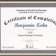 carpet cleaning technician course
