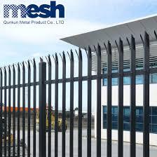 China Pvc European Wrought Iron Fence Design China Metal Palisade Fence Euro Palisade Fence