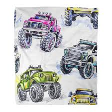 ASHLEIGH Throw Blanket 50x60 Inches Watercolor Cartoon Monster Trucks  Colorful Extreme Sports 4X4 Vehicle SUV Off Road Warm Flannel Soft Blanket  for Couch Sofa Bed - Walmart.com - Walmart.com