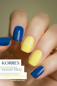 korres nail polish ocean blue and
