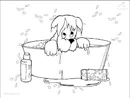 Kleurplaat Dieren Hond Kleurplaat Hond In Bad