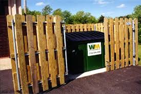Commericial Wood Fence Dumpster Enclosures