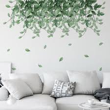 Plant Wall Sticker Flower Wall Stickers Green Leaf Home Decor Hanging Twig Vines Botanical Sticker Living Room Bedroom Baby Room Decal F193 Mikiyoshop On Artfire