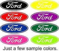Ford Decal Script Oval Vinyl Decal Sticker Car Truck Window Ebay