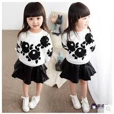 girls cotton long sleeved suit skirt
