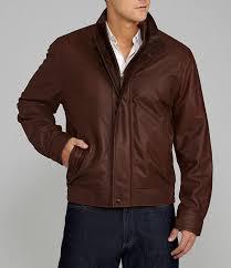 daniel cremieux brown leather jacket