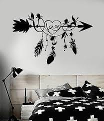 Vinyl Wall Decal Ethnic Arrow Love Feathers Bedroom Decoration Stickers Ig4920 Ebay