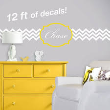 Chevron And Quatrefoil Nursery Wall Decal Personalized Etsy