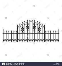 Fence Iron Cemetery Isolated Icon Stock Vector Image Art Alamy