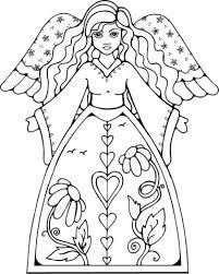 Vrouwelijke Engel Kleurplaat Gratis Kleurplaten Printen