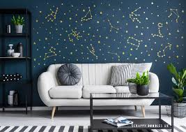 Zodiac Star Constellation Wall Decals Stickers In 2020 Space Themed Room Theme Room Decor Constellation Wall Decal