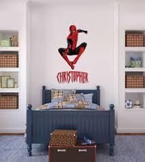 Spider Man Superhero Personalized Name Custom Decal Wall Sticker Marvel Wc292 Ebay