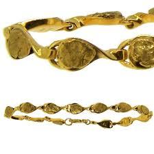 alaskan gold nugget bracelet in yellow gold