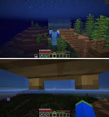Standing Under A Bed In Water Allows For An Air Pocket And Easier Spotting Of Structures Under Water Minecraft