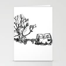 Farm And Old Wooden Fence Stationery Cards By Dashk Society6