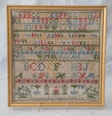 Needlework alphabet sampler, Elizabeth Ada Lawson, age 12 ye   Needlework,  Cross stitch samplers, Antique samplers