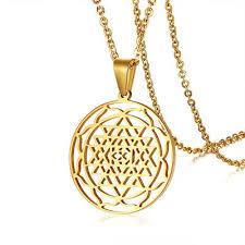 chakra triangles pendant necklace chain