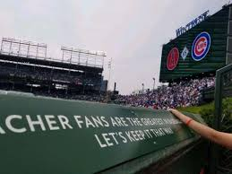 wrigley field section bleachers home
