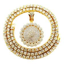 diamond pendant tennis necklace
