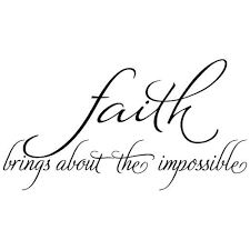 Shop Faith Brings About The Impossible Wall Decal Quote Words Lettering Decor Sticker Wall Vinyl Overstock 17998759