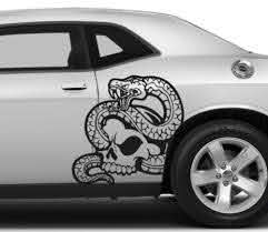 Buy 2x Pair Left Right Side Snake Skull Awesome Tribal Decal Car Truck Van Vinyl Decal